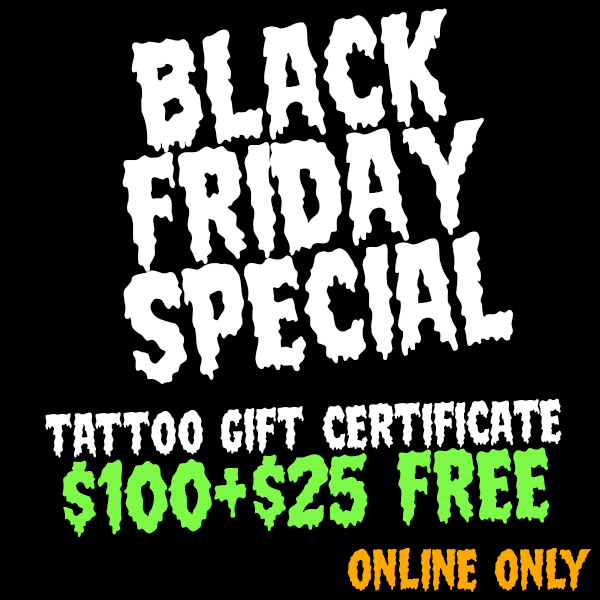 BLKFRDY $100 Gift Certificate +25 FREE