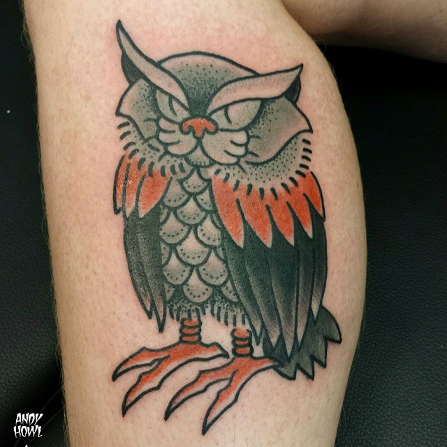 meowl tatoo by Andy Howl