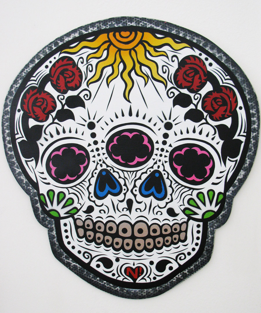 Dia de los Muertos skull by N Satterfield
